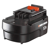 BLACK and DECKER akumulátor 12V, 1,2 Ah NiCD