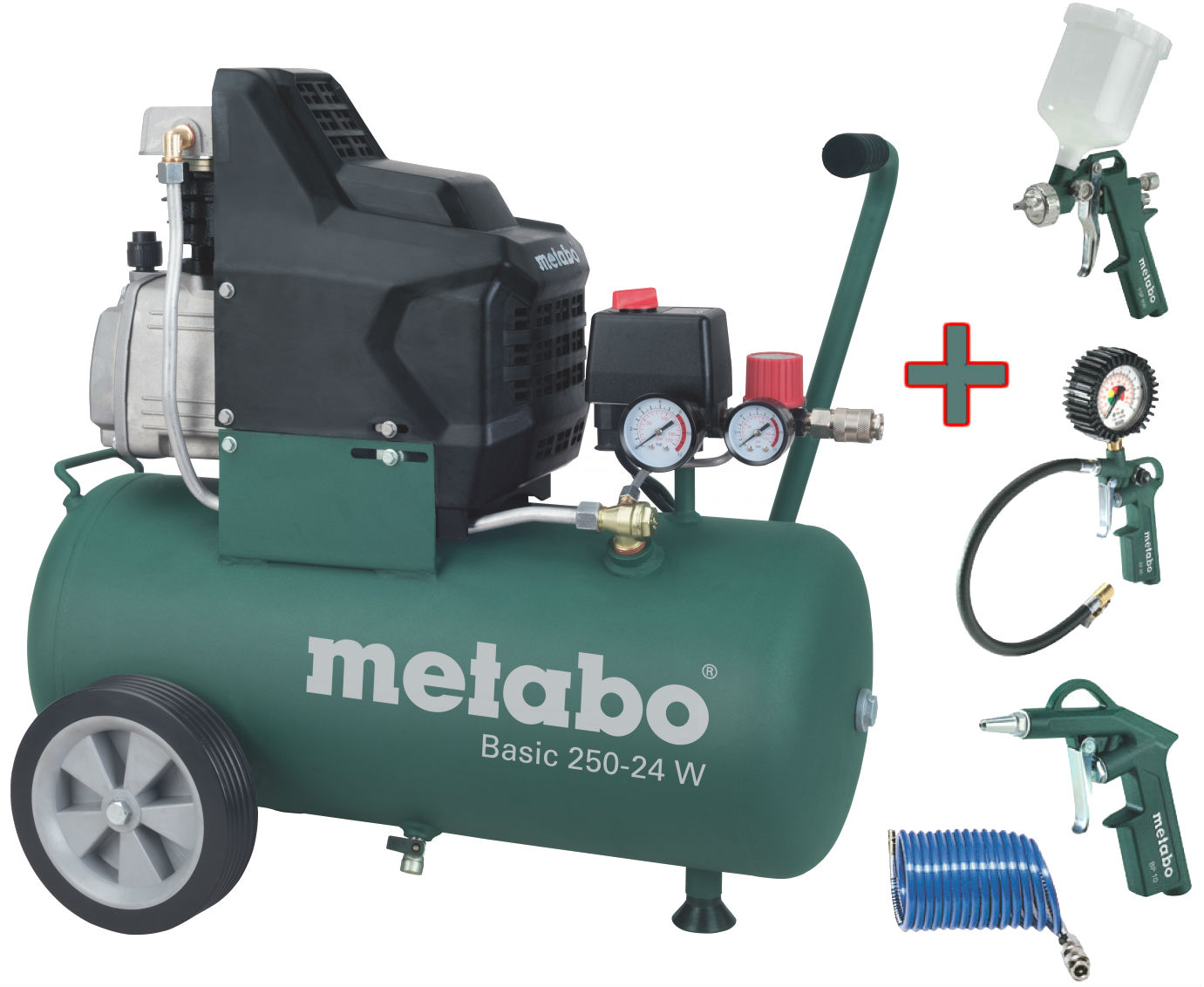 METABO Basic 250-24 W olejový kompresor + set LPZ 4